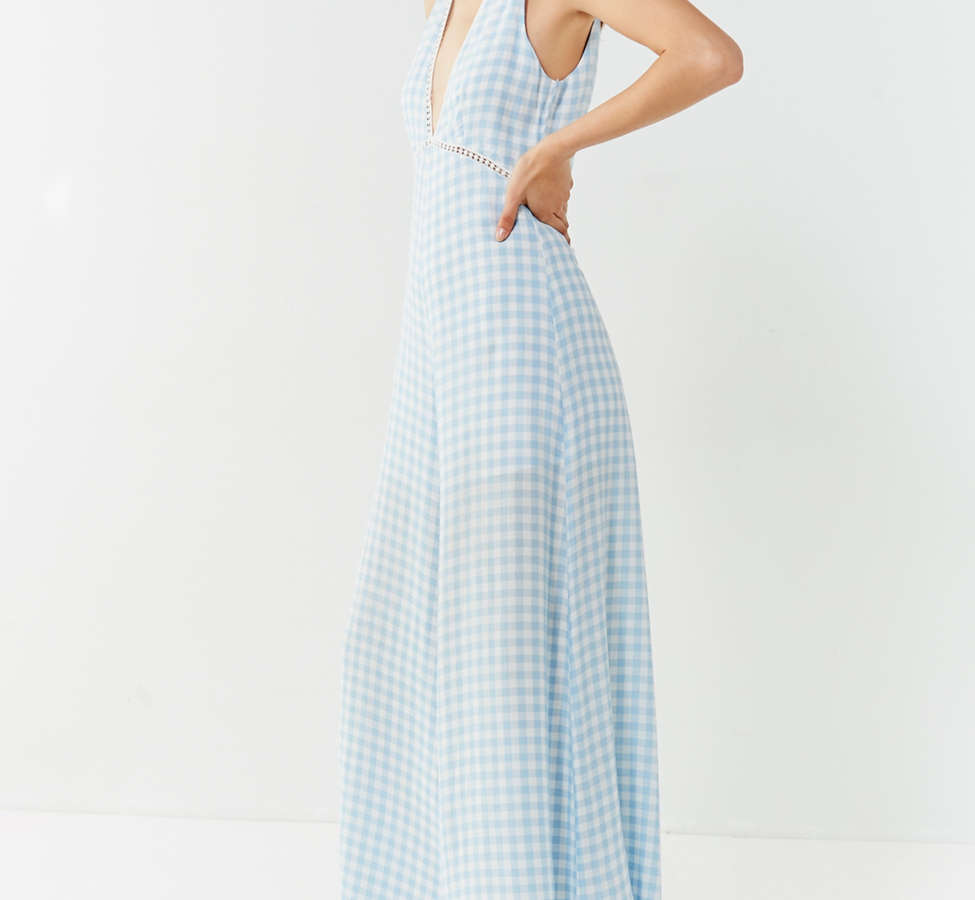 Slide View: 6: Lost + Wander Fiesta Gingham Jumpsuit