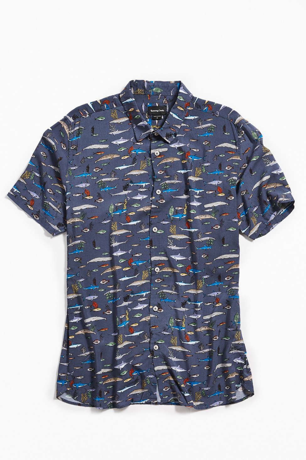 Chemise Boutonnee A Manches Courtes Sea Life Barney Cools Urban