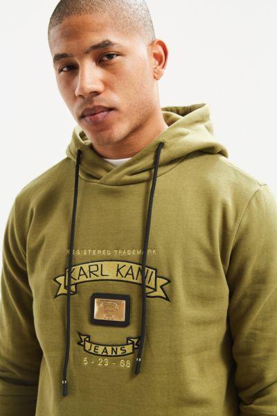 Karl Kani Trademark Hoodie Sweatshirt - Olive S at Urban Outfitters