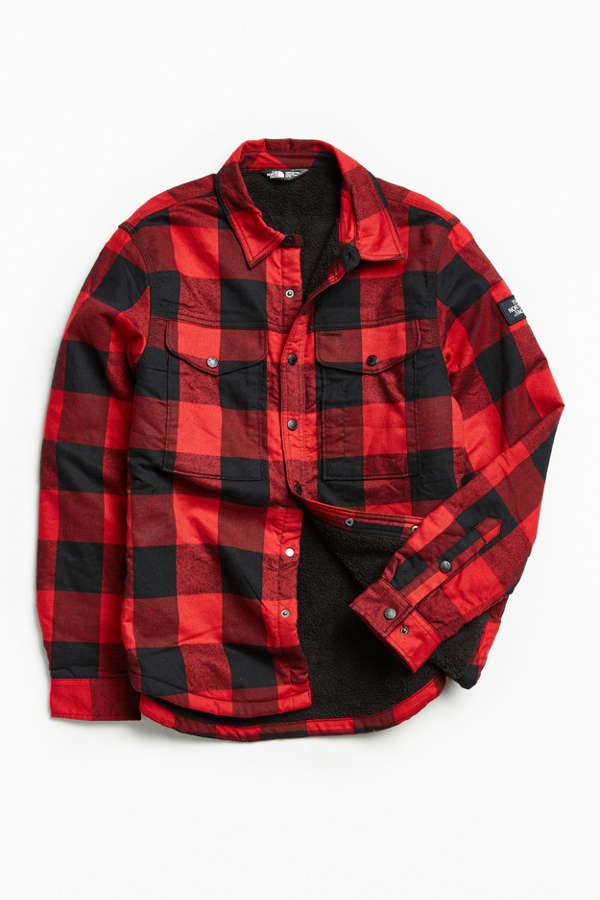 The North Face Campground Plaid Sherpa Shirt Jacket