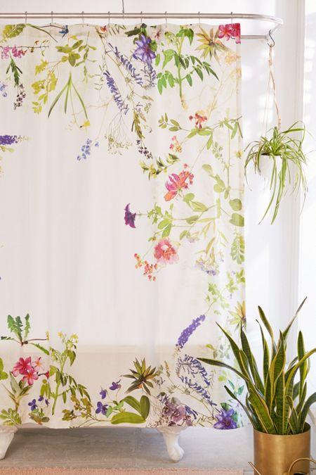 Orange Floral Shower Curtain. Wildflowers Shower Curtain Orange  Curtains Bathroom Urban Outfitters