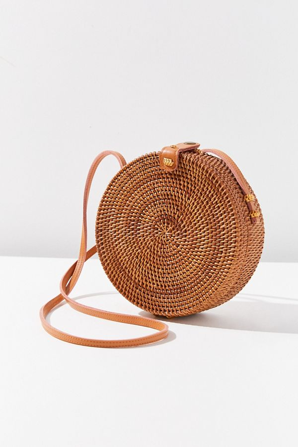 Circle Straw Crossbody Bag Urban Outfitters