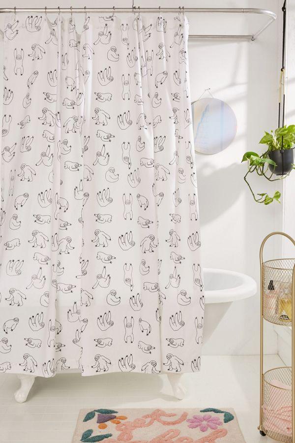 Slide View 1 Sloths Shower Curtain
