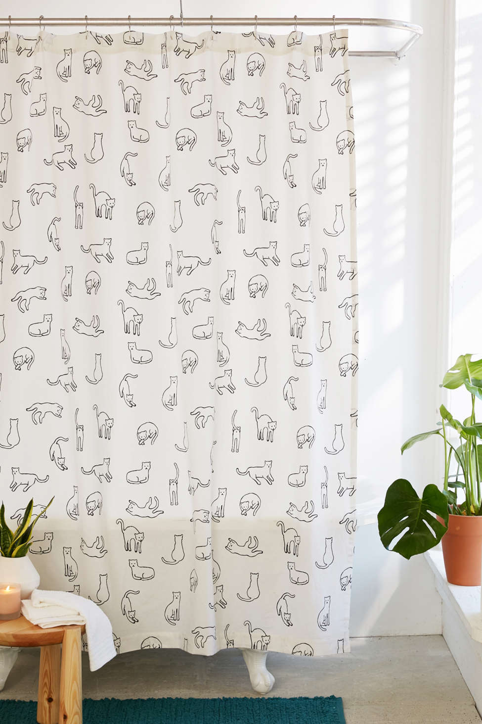 Slide View: 1: Cats Shower Curtain