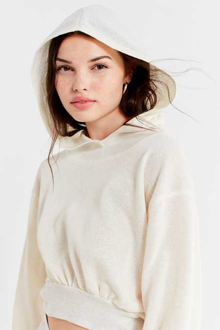 Project Social T Moon Cropped Hoodie Sweatshirt