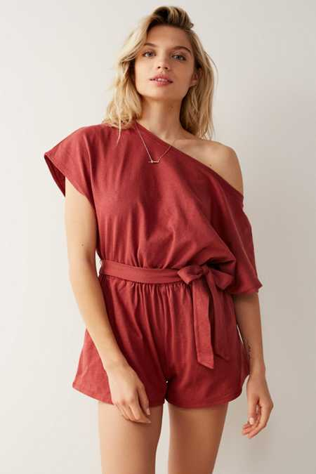 Out From Under Skye Belted Slouchy Romper