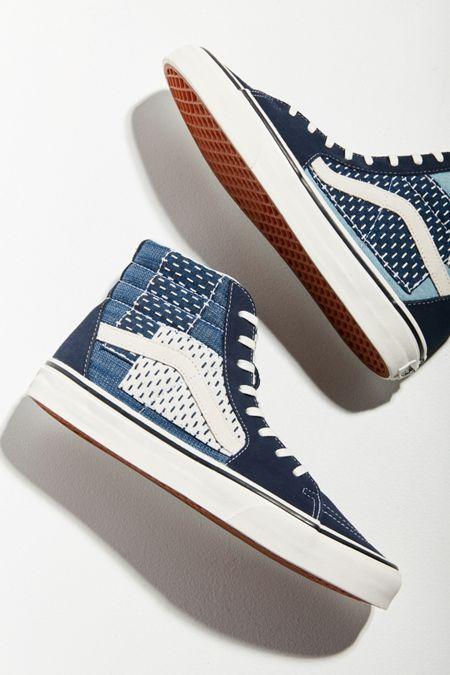 de67a74a9a6356 Vans Sk8-Hi Patchwork Denim Sneaker