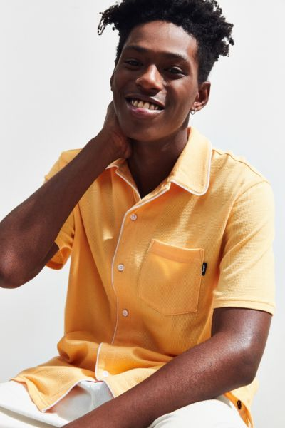 Stussy Sid Mesh Short Sleeve Button Down Shirt by Stussy