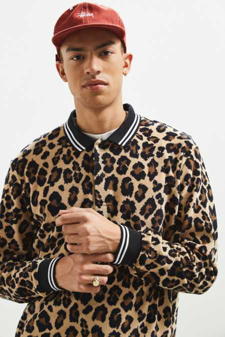 UO Printed Velour Rugby Shirt