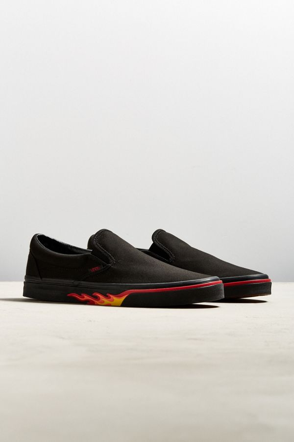vans slip on with flames
