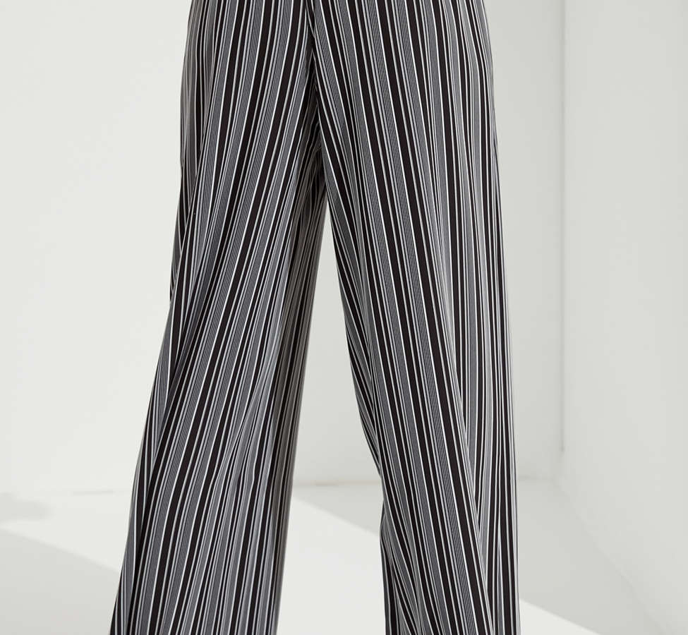 Slide View: 2: UO Striped Palazzo Wide-Leg Pant