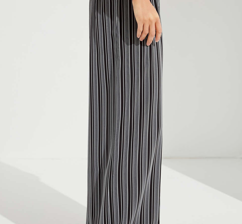 Slide View: 4: UO Striped Palazzo Wide-Leg Pant