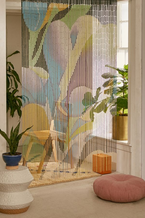 Wood With Curtains Painted On It