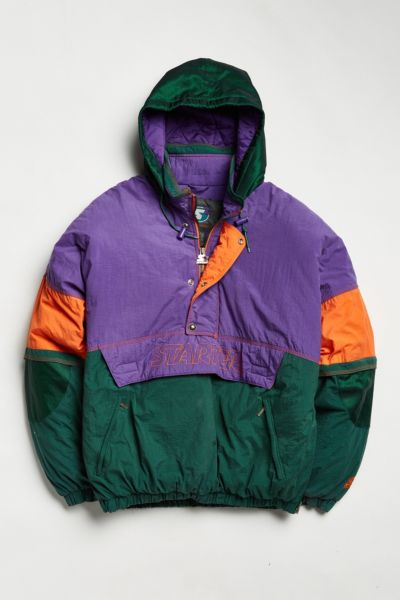 Vintage Starter Colorblocked Anorak Jacket - Purple XL at Urban Outfitters