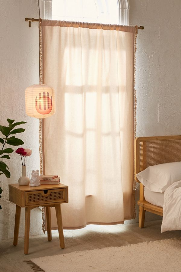 polyester curtain blackout beige hilja curtains blocking hidden light window tabs with panel
