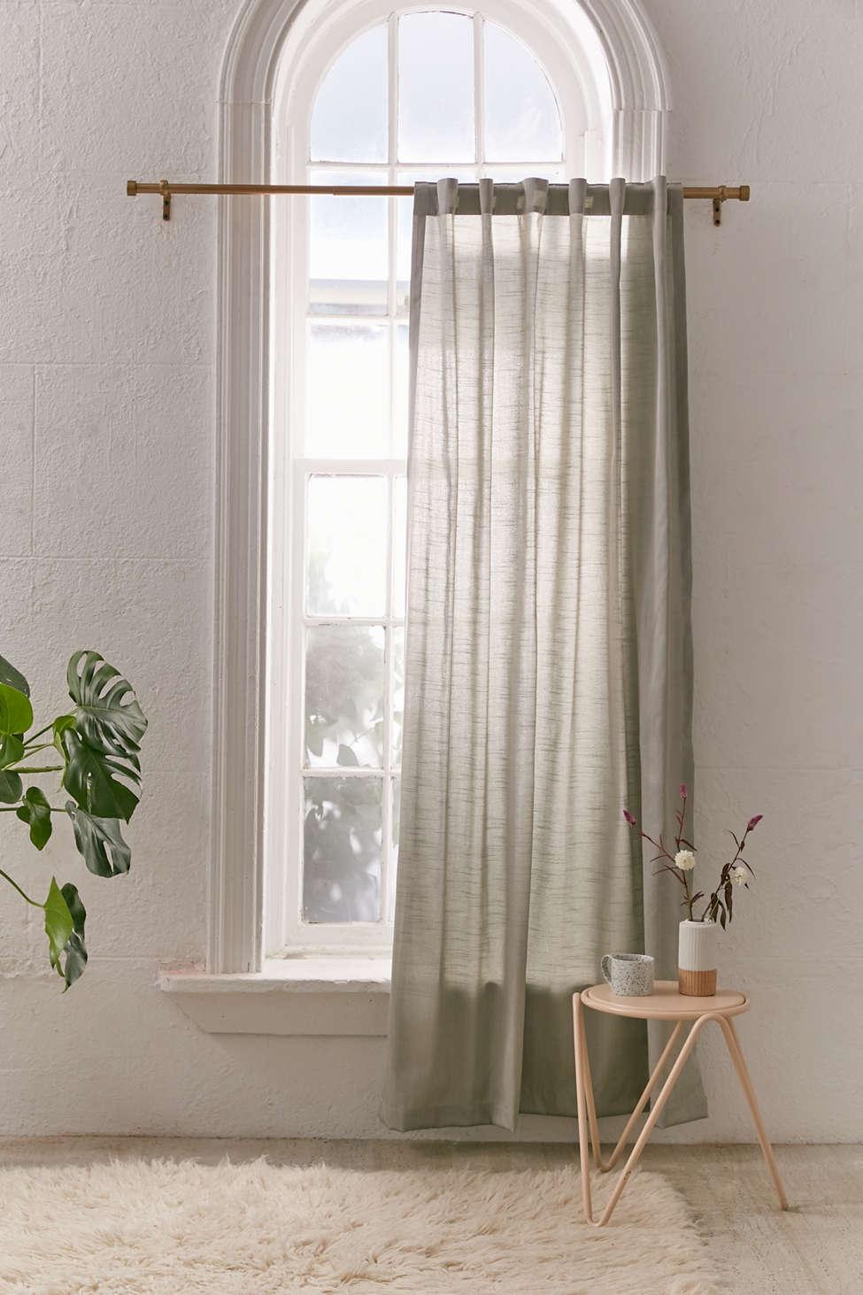 Slide View: 1: Metallic Sheen Blackout Window Curtain