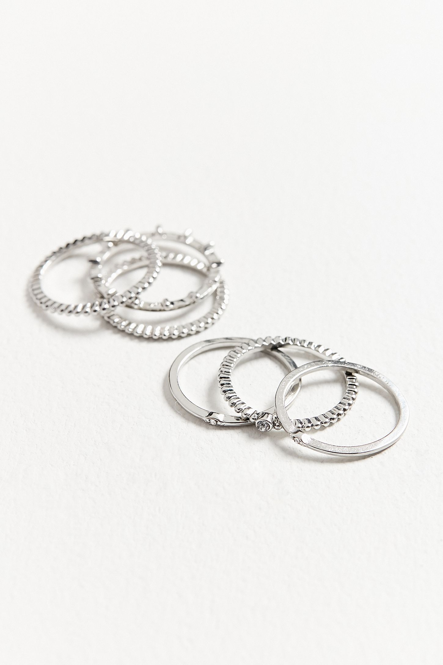 Essential Stacking Ring Set Urban Outfitters Stocking 9919 Slide View 2