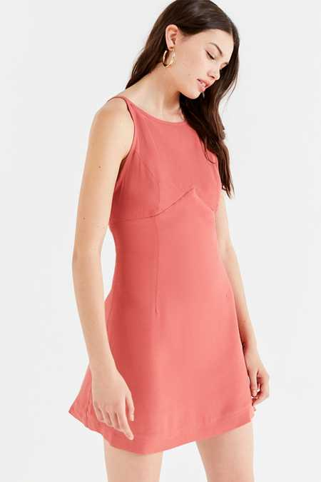UO Mabel High-Neck Empire Mini Dress