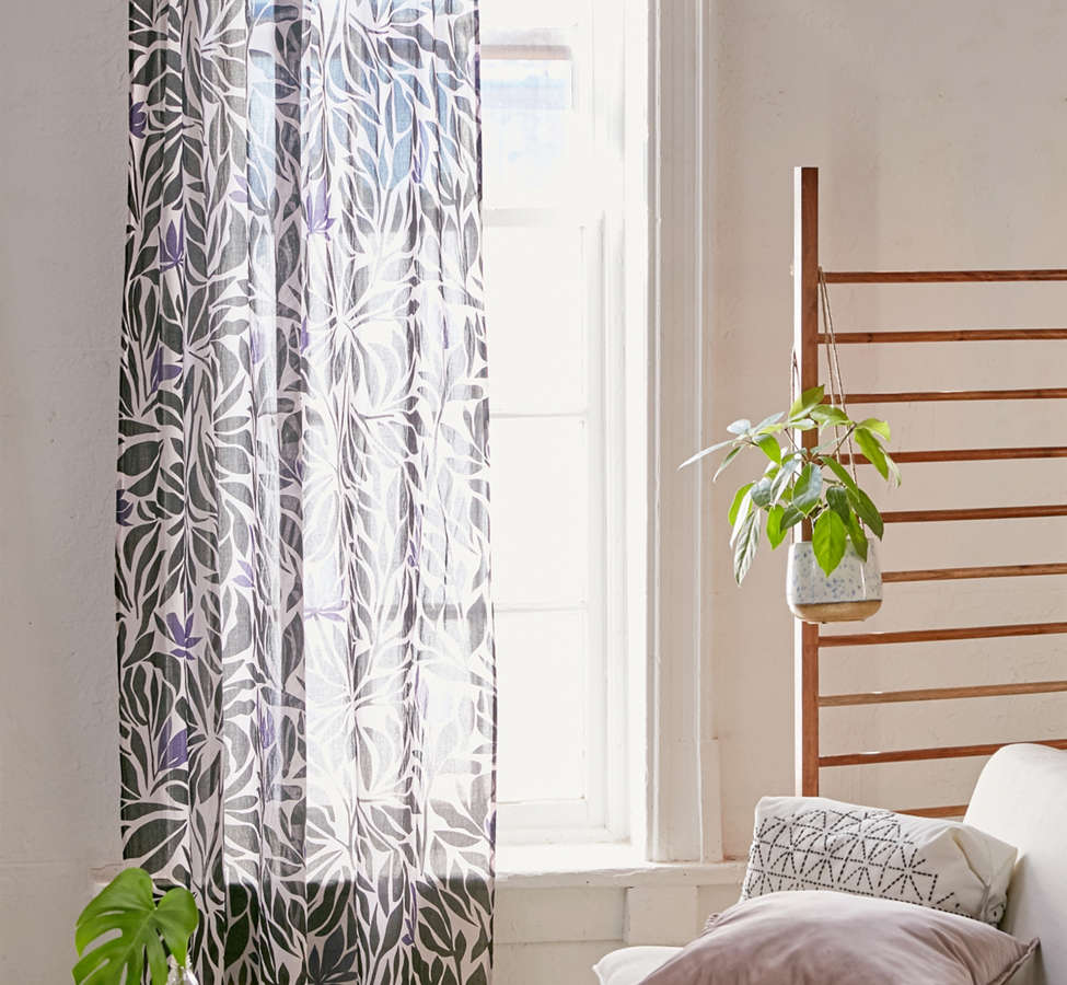 Slide View: 1: Nora Floral Window Curtain