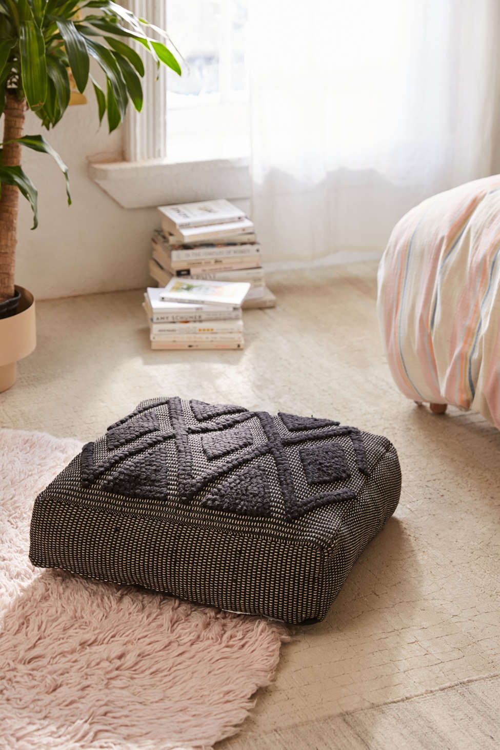 Slide View: 1: Lua Textured Floor Pillow