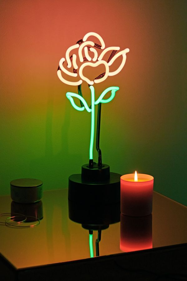 Stem Rose Neon Sign Table Lamp Urban Outfitters