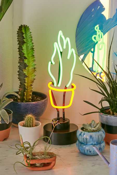 Potted Plant Neon Sign