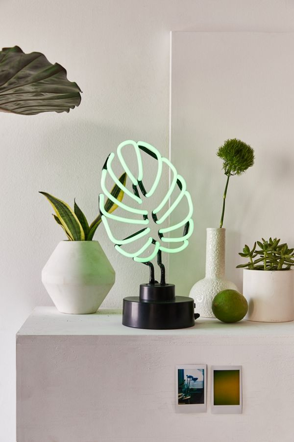 #Monstera Leaf Neon Sign Table Lamp