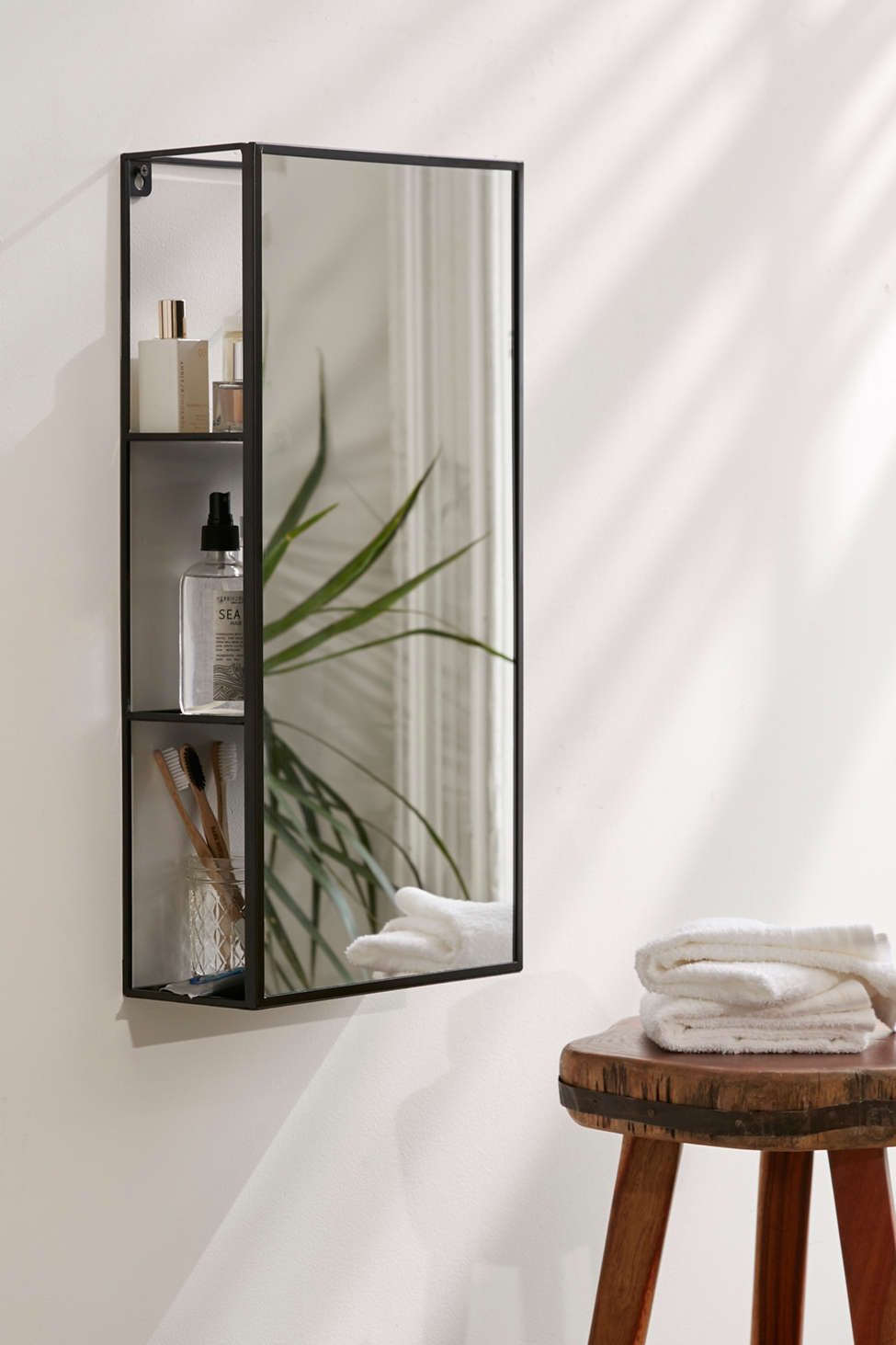 Slide View: 1: Cubiko Storage Mirror