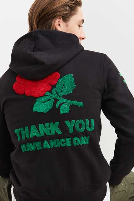 Chinatown Market Thank You Chenille Patch Hoodie Sweatshirt
