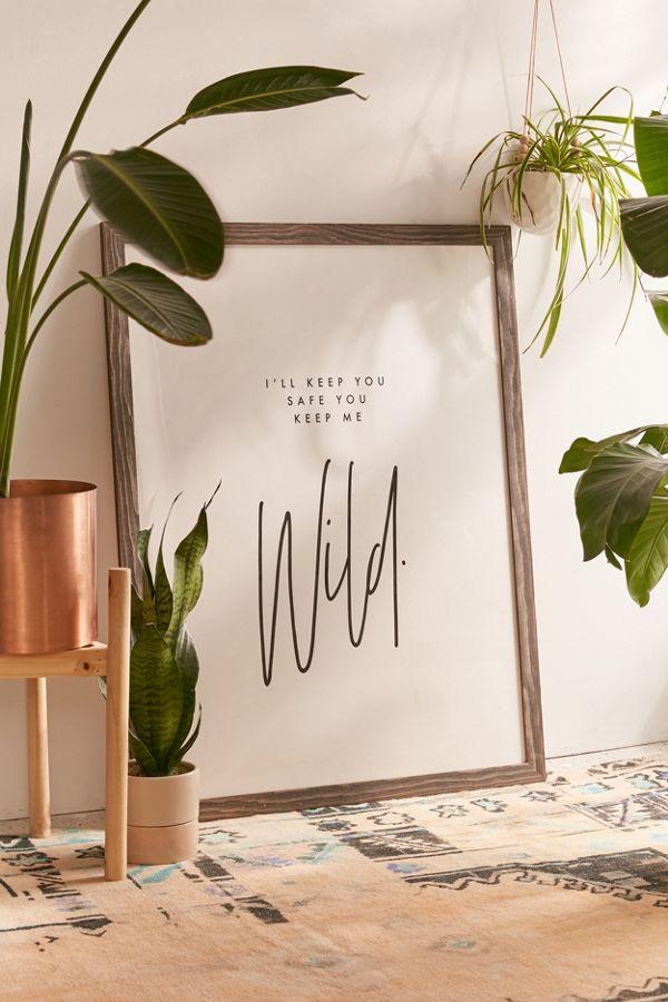 Slide View: 1: Honeymoon Hotel Keep Me Wild Art Print