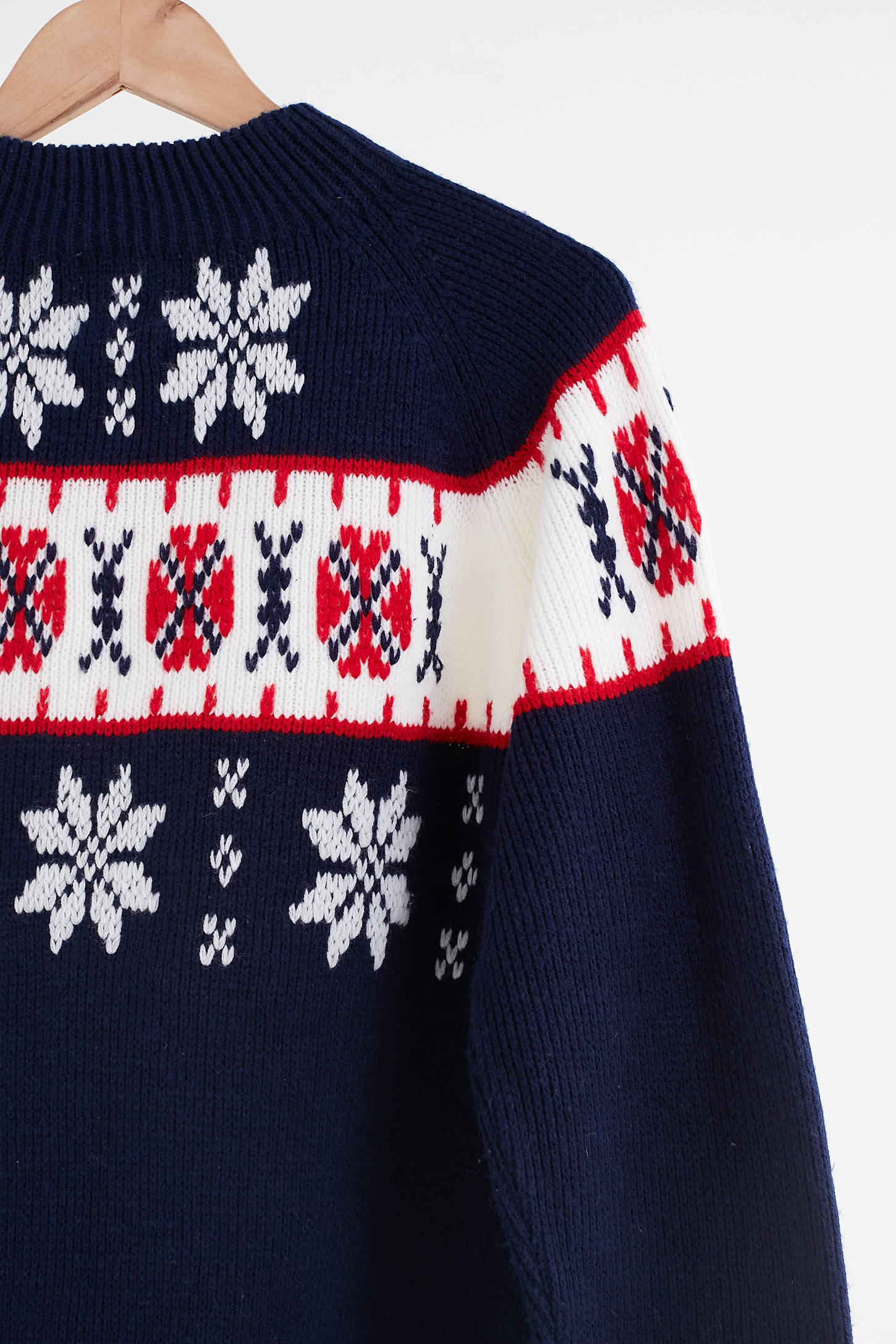 Vintage Navy Blue Fair Isle Ski Sweater | Urban Outfitters Canada