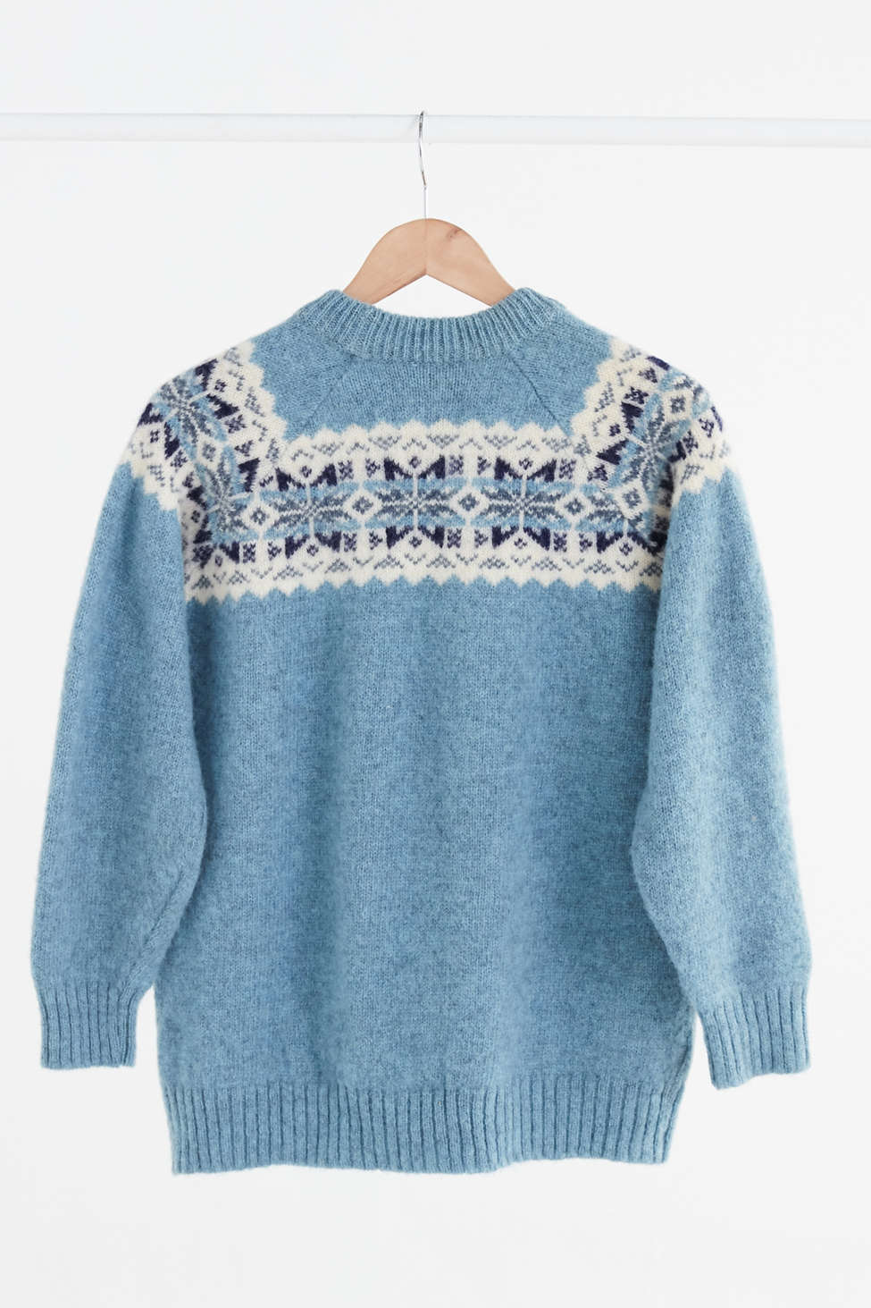 Vintage Light Blue Fair Isle Ski Sweater | Urban Outfitters Canada