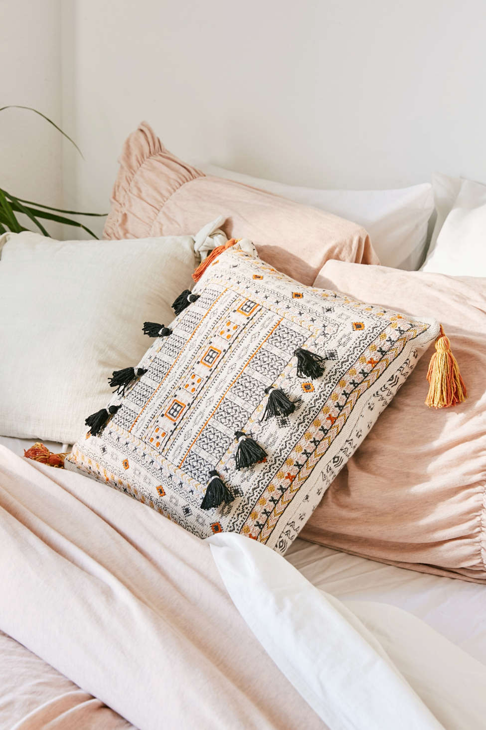 Slide View: 1: Harper Embroidered Throw Pillow