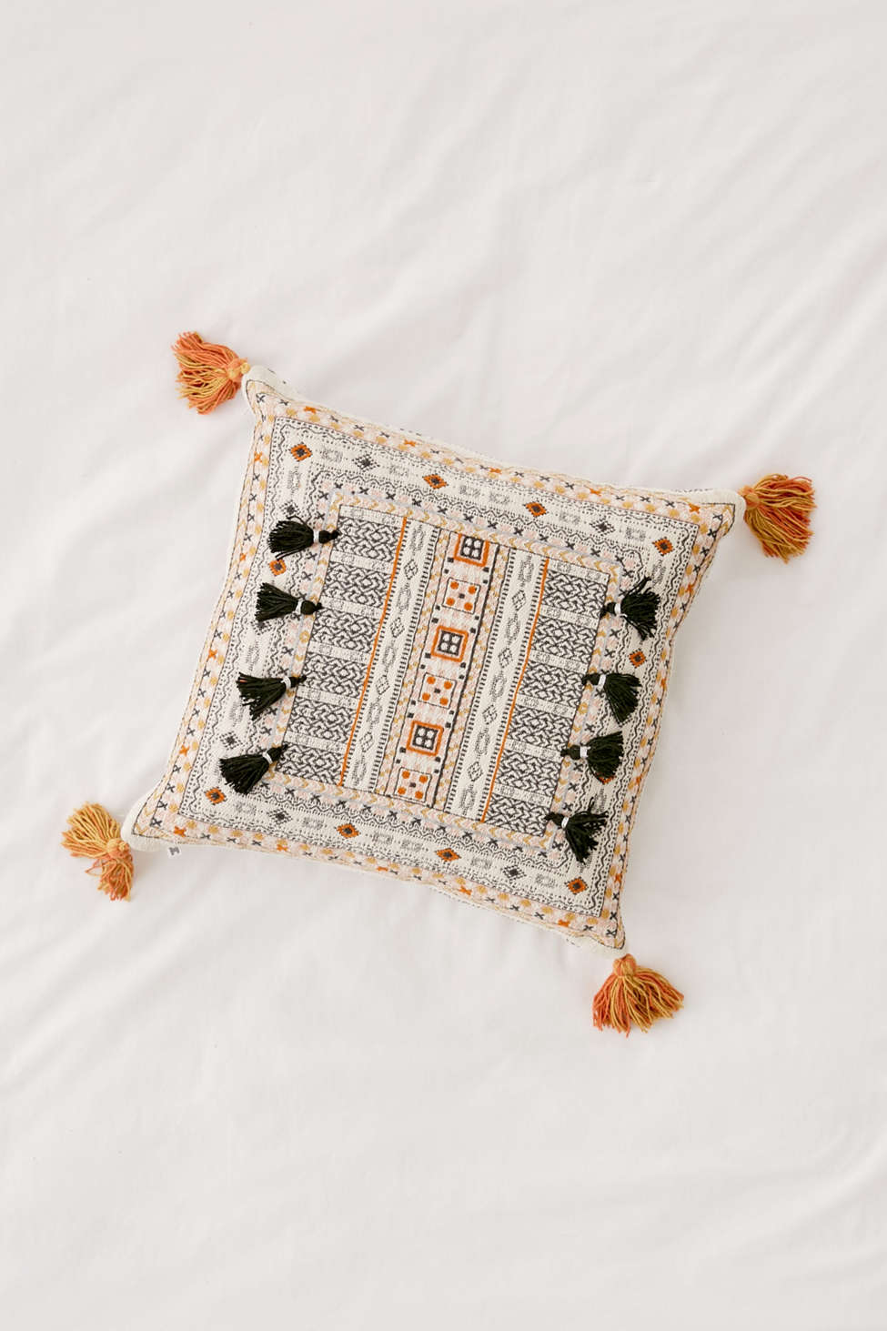 Slide View: 2: Harper Embroidered Throw Pillow