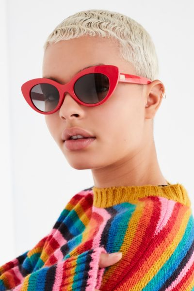 Crap Eyewear The Wild Gift Red Cat-Eye Sunglasses - Red One Size at Urban Outfitters