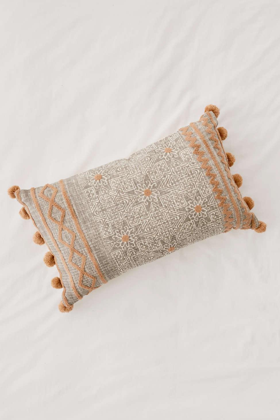 Slide View: 2: Geo Tufted Bolster Pillow