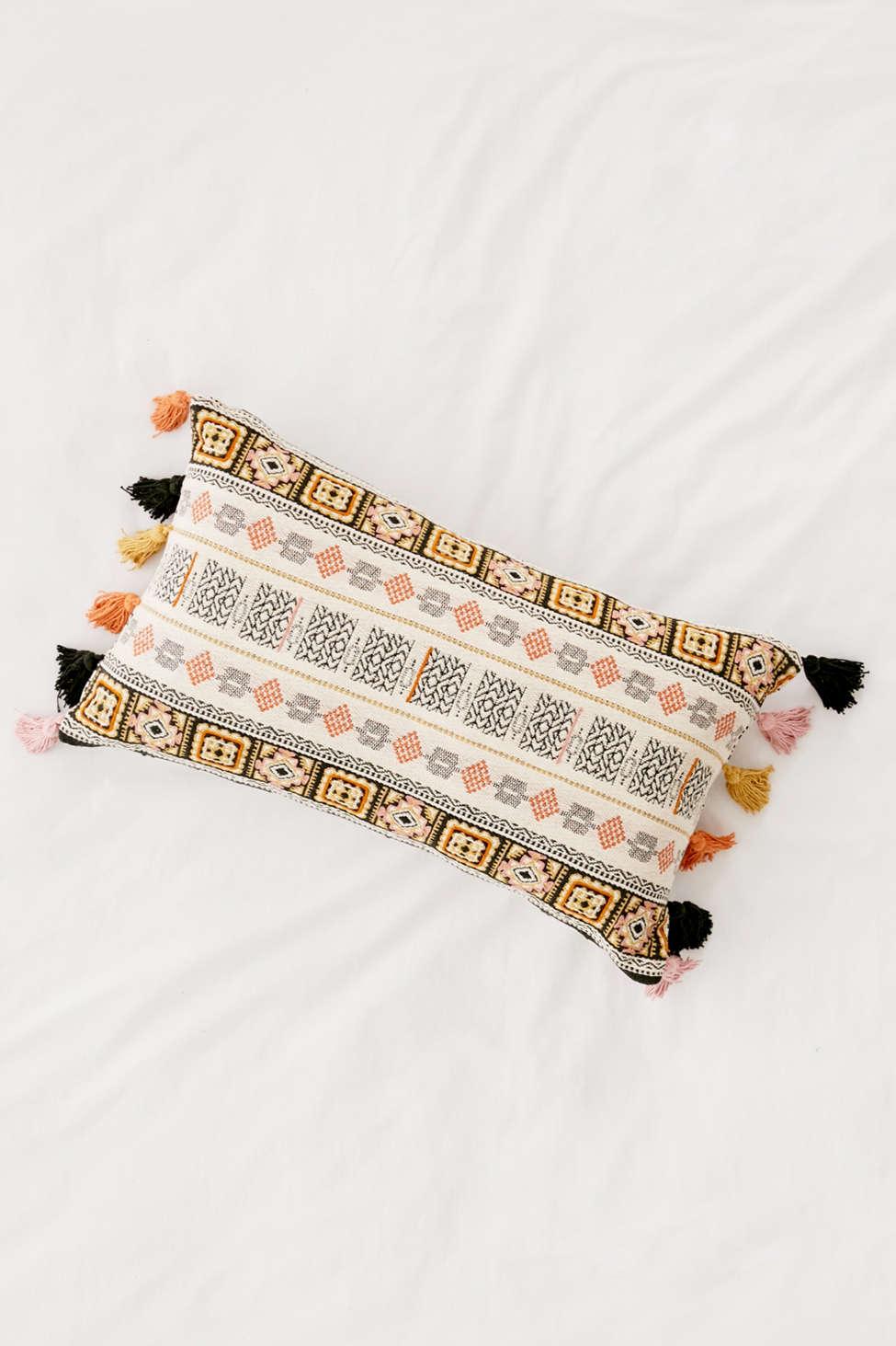 Slide View: 2: Harper Embroidered Bolster Pillow