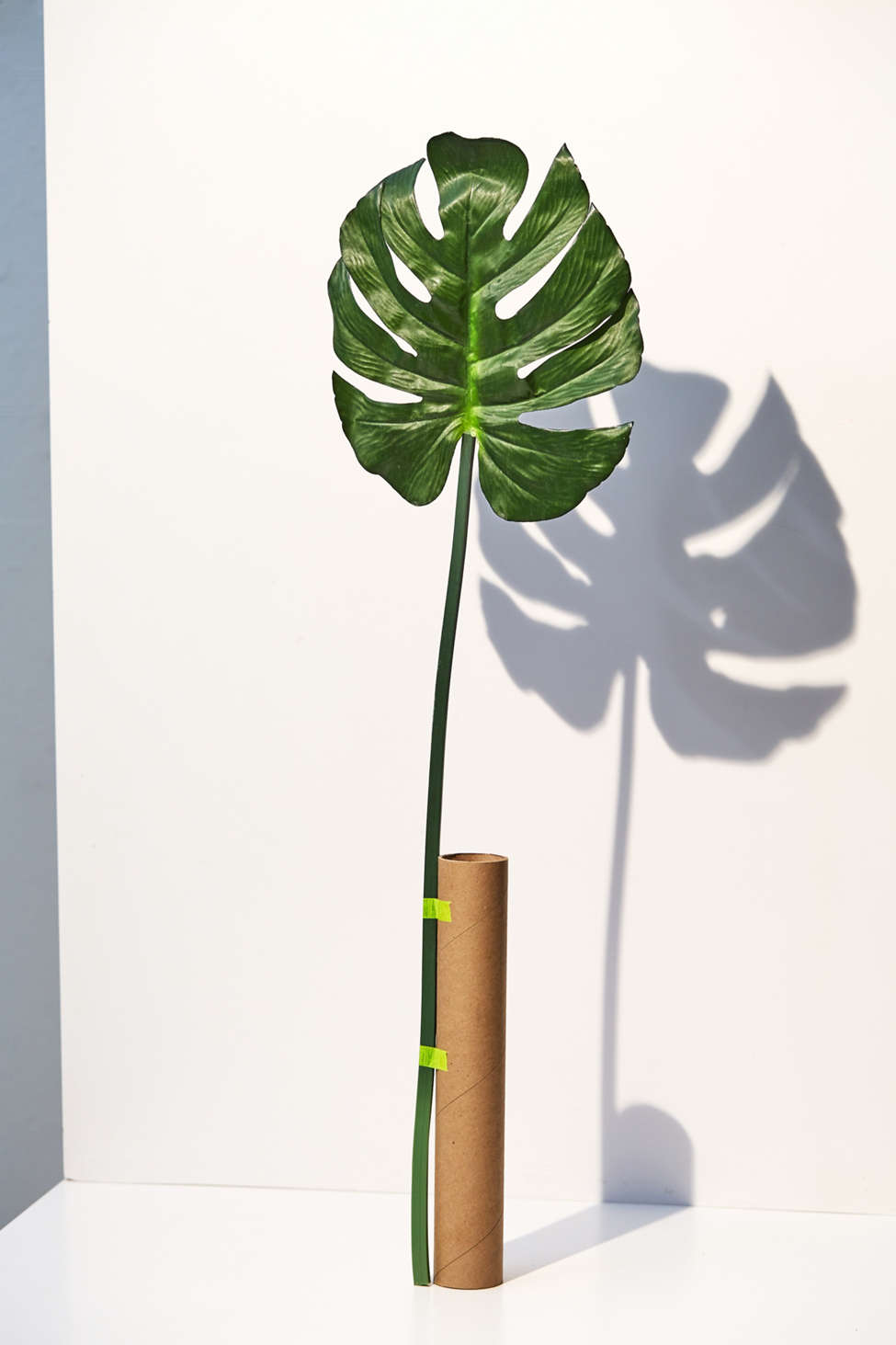 Slide View: 1: Faux Monstera Leaf