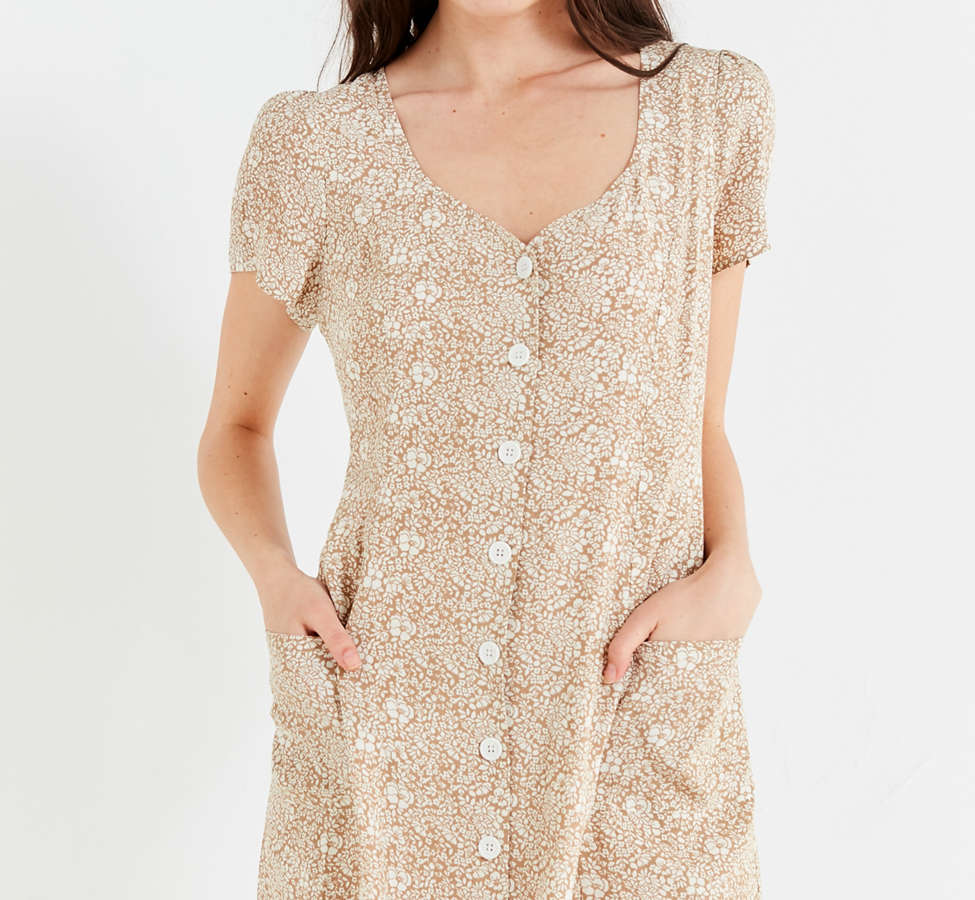 Slide View: 1: UO Lola Button-Down Mini Dress