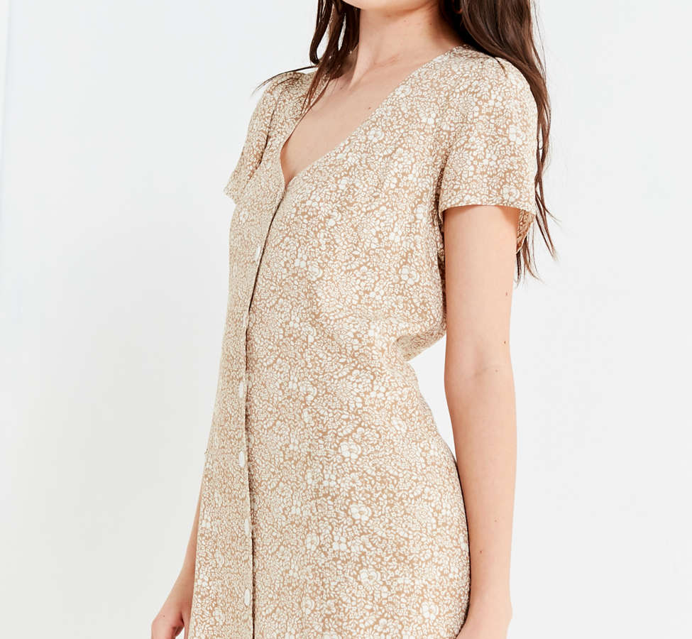 Slide View: 4: UO Lola Button-Down Mini Dress