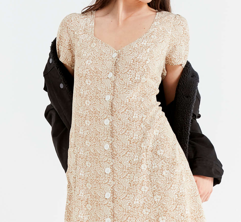 Slide View: 6: UO Lola Button-Down Mini Dress