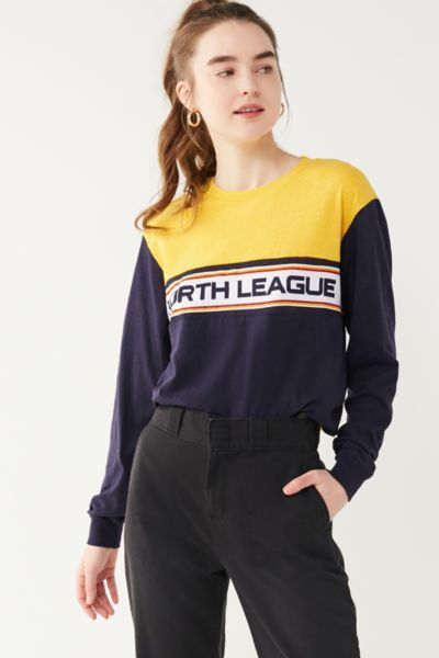 North League Long Sleeve Tee - Navy XS at Urban Outfitters