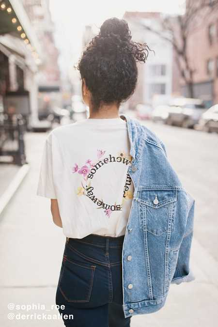 Somewhere Some Day Flower Tee