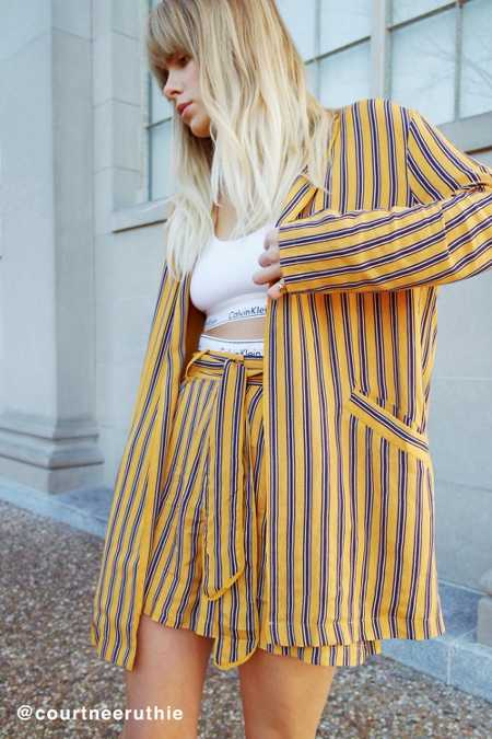 Cooperative Blanche Oversized Striped Blazer