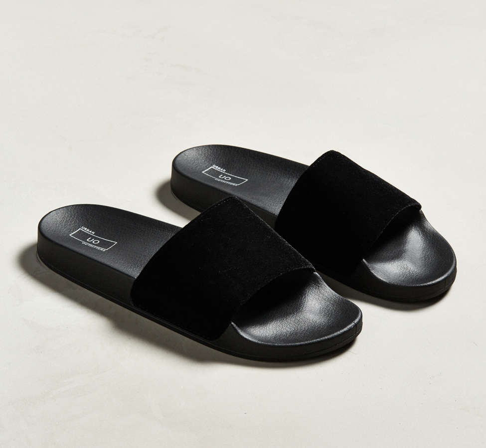Slide View: 1: UO Velvet Slide Sandal
