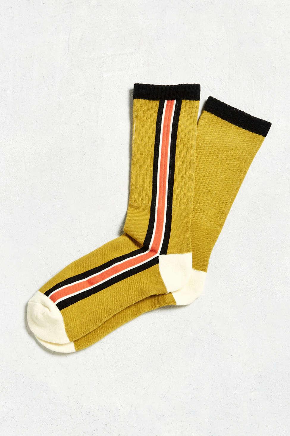 Vertical Stripe Sport Sock