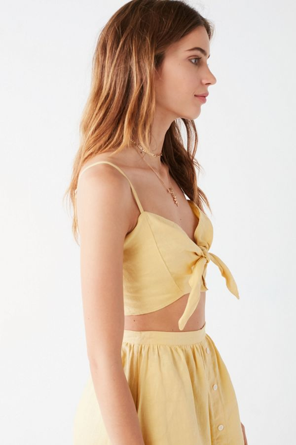 Faithfull the brand de fiori tie front crop top urban outfitters slide view 5 faithfull the brand de fiori tie front crop top ccuart Gallery