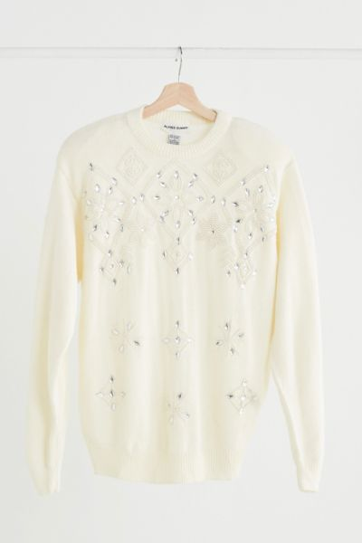 Vintage Pearl Embellished Sweater - Assorted One Size at Urban Outfitters