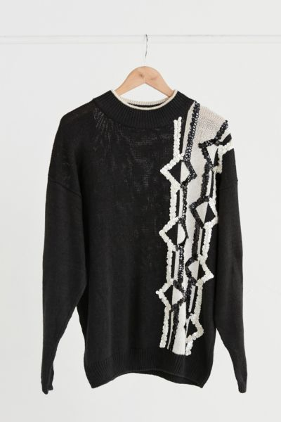 Vintage Black + White Sequin Sweater - Assorted One Size at Urban Outfitters