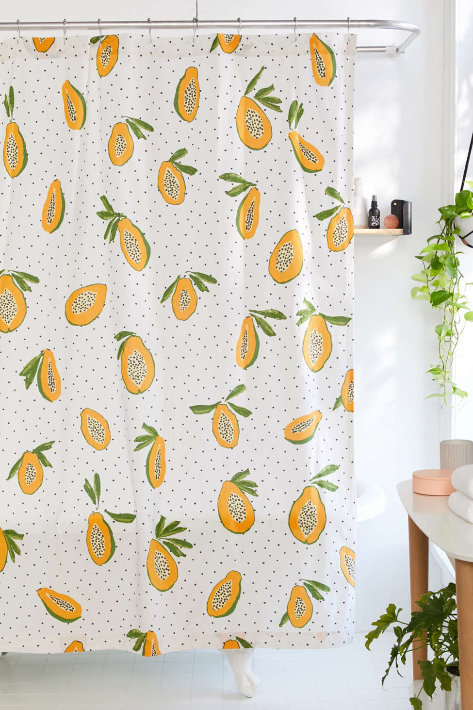 Allover Fruits Shower Curtain Urban Outfitters